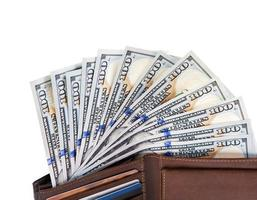 Dollars in wallet photo