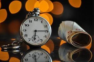 tiempo y dinero, concepto de negocio foto