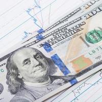 dólares americanos, gráfico do mercado de ações - proporção de 1 para 1