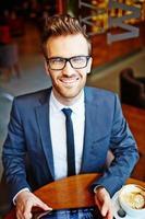 Entrepreneur in cafe photo