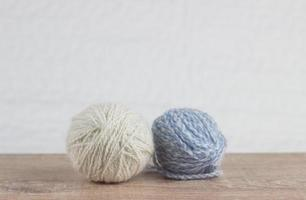 two balls of yarn