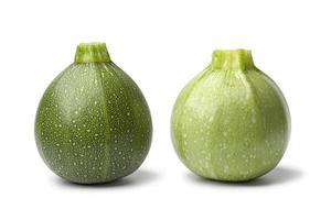 Fresh green round Zucchini