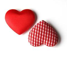 deux coeurs en soie