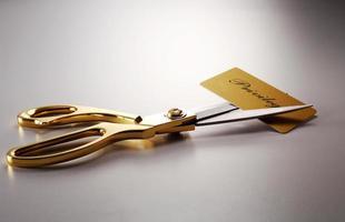 cutting credit card photo