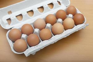 huevos en el paquete