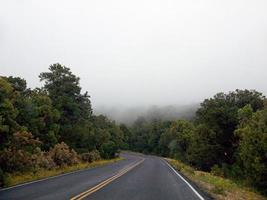 Foggy road in Arizona
