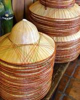 sombreros de bambú foto