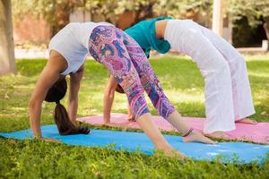 Girls arching their backs