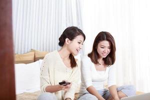 Retrato de mujeres jóvenes asiáticas