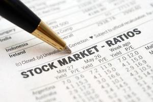 Stock market report photo