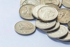 macro de monedas foto