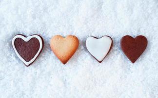 rij peperkoek harten