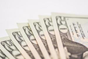US Dollar bills, veer of money