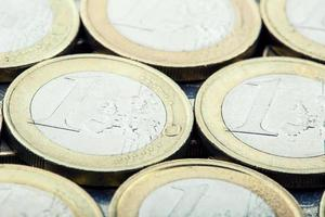 Euro coins. Euro money. Euro currency. photo