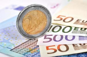 Two Euro coin photo