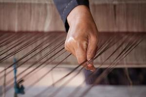 Process of weaving Thai Silk