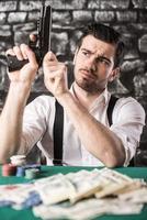Gangster. Poker. photo