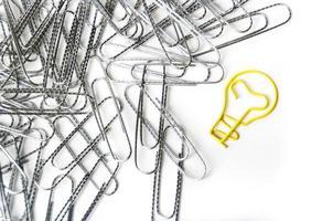 Light bulb shaped paper clip photo