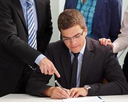 Firma de contrato foto