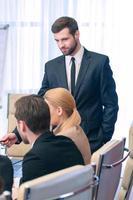 Business meeting leader