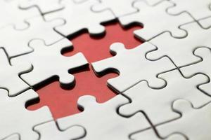 white jigsaw puzzle photo