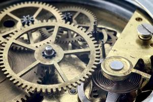Vintage clockwork with adjustment lever