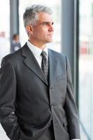 thoughtful mature businessman