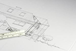 plano de un edificio 02 foto