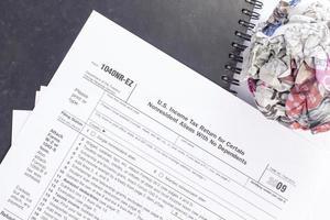 formulario de impuesto sobre la renta de EE. UU. foto
