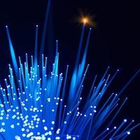 Fibras ópticas dinámicas volando desde lo profundo de la tecnología foto
