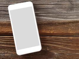 Smartphone on wood