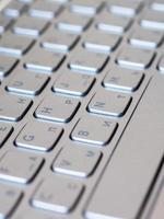 fondo del teclado del ordenador portátil foto
