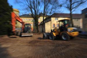 local de construção de estradas