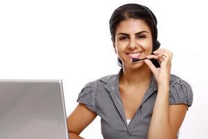 representante de atendimento ao cliente on-line de negócios