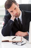 Tired businessman.