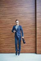 Businessman jumping photo