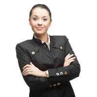 Glimlachende zakenvrouw