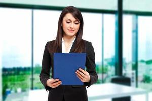 Young businesswoman portrait photo