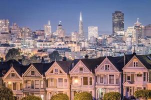 The Painted Ladies - San Francisco Skyline photo