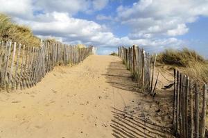 camino de playa foto