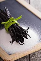 Sugar and vanilla beans photo