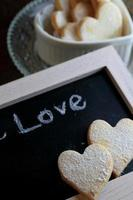 Heart shaped cookies photo