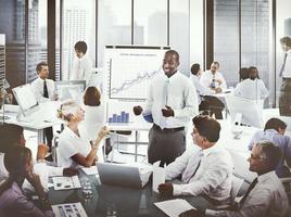 concepto de lugar de trabajo de oficina de gente de negocios