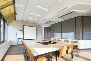 Bright conference room interior photo