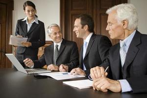 ondernemers in de vergadering