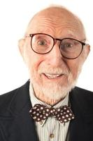 expressieve senior man