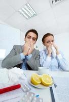 Sick businesspeople