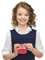 girl with coin purse photo