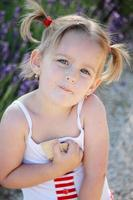 Girl and cookies photo