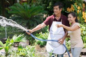 Garden irrigating